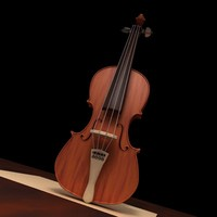 c4d violin render