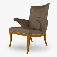 3d swedish library chair rose