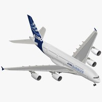 airbus a380-800 house colors 3d model