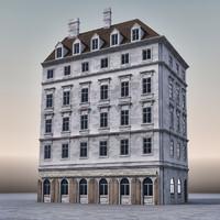 3d building european europe