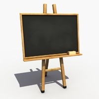 3d blackboard modeled