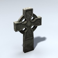 3d celtic gravestone model