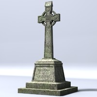 Celtic cross 8 (lowpoly)