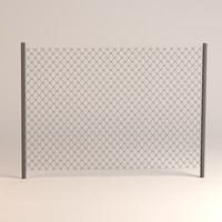 chain fence 3d 3ds