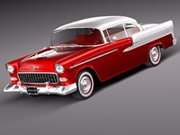 3d chevrolet bel air 1955
