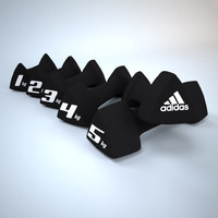 3d model dumbbells weight