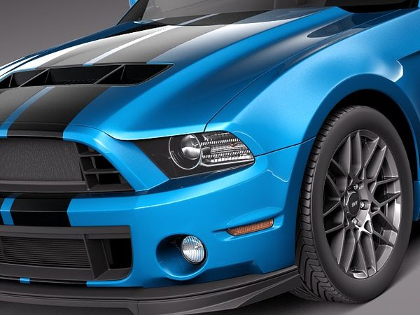 3dsmax mustang gt gt500 shelby cobra - Ford Mustang Shelby GT500 Cobra 2013... by squir