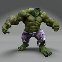 3d hd rigged hulk animation