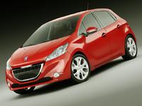 3d materials car model