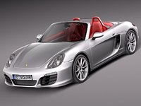 3d porsche boxster s sport car model