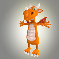 3d cool dragon model
