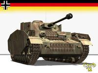 panzer h tank 3d lwo