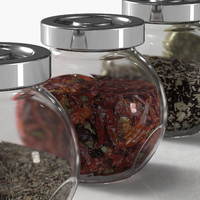 Spice Jars with 12 different spices