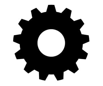 Spinning gear 3D model