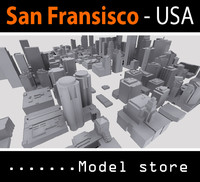 city buildings san francisco 3d model