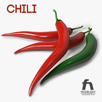 3d chili pepper