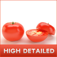 High Detailed Tomato with inside