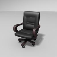 chair hostel bed 3d model