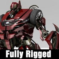 3d rigged transformer