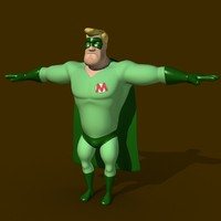 3d male cartoon character model