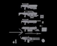 sci-fi weapons 3d model