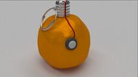 free sticky semtex grenade 3d model