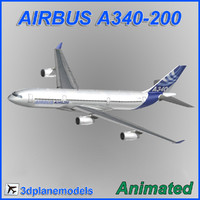 3d model airbus a340-200