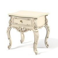 3d model carved night stand