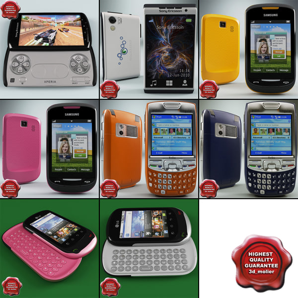 3d cellphones 48 - Cellphones Collection 48... by 3d_molier