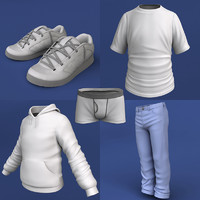 boy pack clothing 3d max