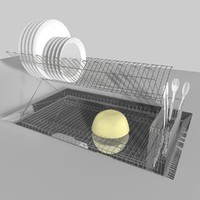 3ds max dish rack plate