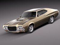 ranchero 1972 antique gran torino 3d model