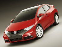 3d 3ds honda civic 2012