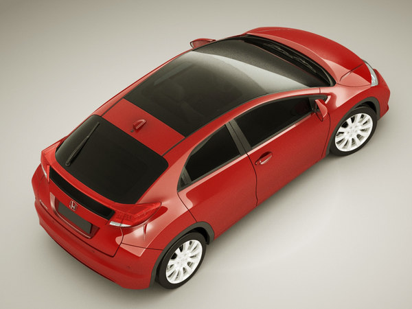 3d honda civic 2012 model - Honda Civic EU 2012 5 Door... by fisherman3d