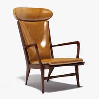 3d model hans wegner ap-15 armchair