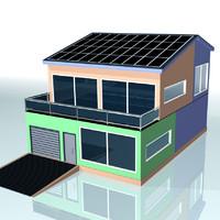 3d building solar model