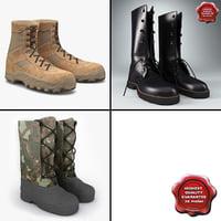 soldier boots v2 3d max