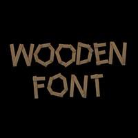 3d model font wooden
