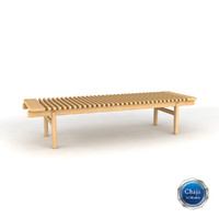 3d bench chair seat model