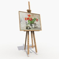 3d easel modeled gallery