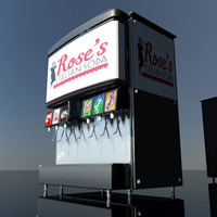 fountain soda machine 3d max