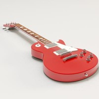 3d model guitar les paul