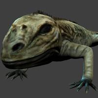 iguana 3d model