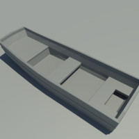 boat fishing 3d model