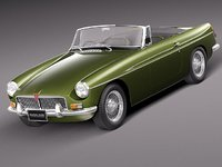 mg mgb b sport car 3d model