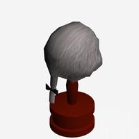 3d model wig 1700