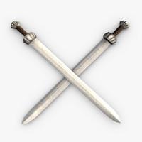 medieval broadsword c4d