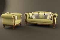 3d model of sofa spenser angelo