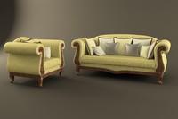 3d model of sofa spenser angelo
