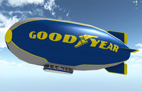 3d model of goodyear zeppelin flight